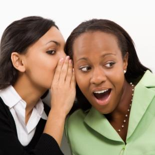 Women gossiping.